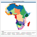 Hydrological basins in Africa (Derived from HydroSHEDS)