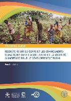 Guide de formation recherche sur le genre et le changement climatique dans l'agriculture et la sécurité alimentaire pour le développement rural