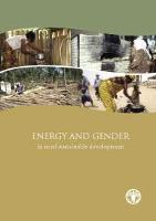 Energy and Gender Issues in Rural Sustainable Development