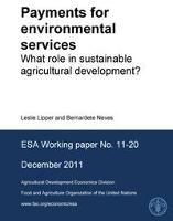 Payments for environmental services: what role in sustainable agricultural development?