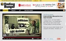 Webbplatsen Ending Hunger tilldelas italienskt pris