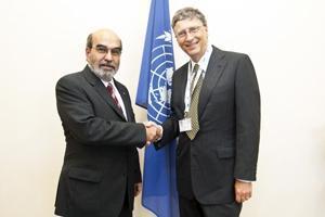 FAO och Bill Gates i samarbete mot hungern