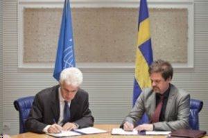 FAO och Sverige tecknar avtal om ekonomiskt stöd