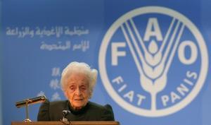 Generaldirektören minns nobelpristagaren och FAO goodwill-ambassadören Rita Levi Montalcini