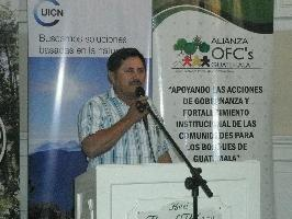 Community leader, Mr Gongora, elected President of the National Alliance of Community Forest Organizations of Guatemala