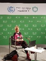 Chair of FFF Steering Committee, Tiina Huvio, COP 24 video interview