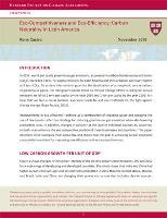 Policy Brief: Eco-Competitiveness and Eco-Efficiency: Carbon Neutrality in Latin America