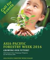 Calling for events at Asia-Pacific Forestry Week 2016