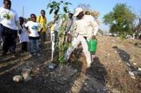 Diouf kicks-off spring planting season in Haiti