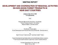 Meeting Report: Development and Coordination of Regional Activities in Non-Wood Forest Products in Near East Countris