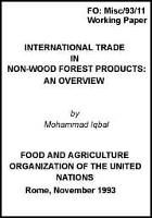 International Trade in Non-Wood Forest Products: An Overview.